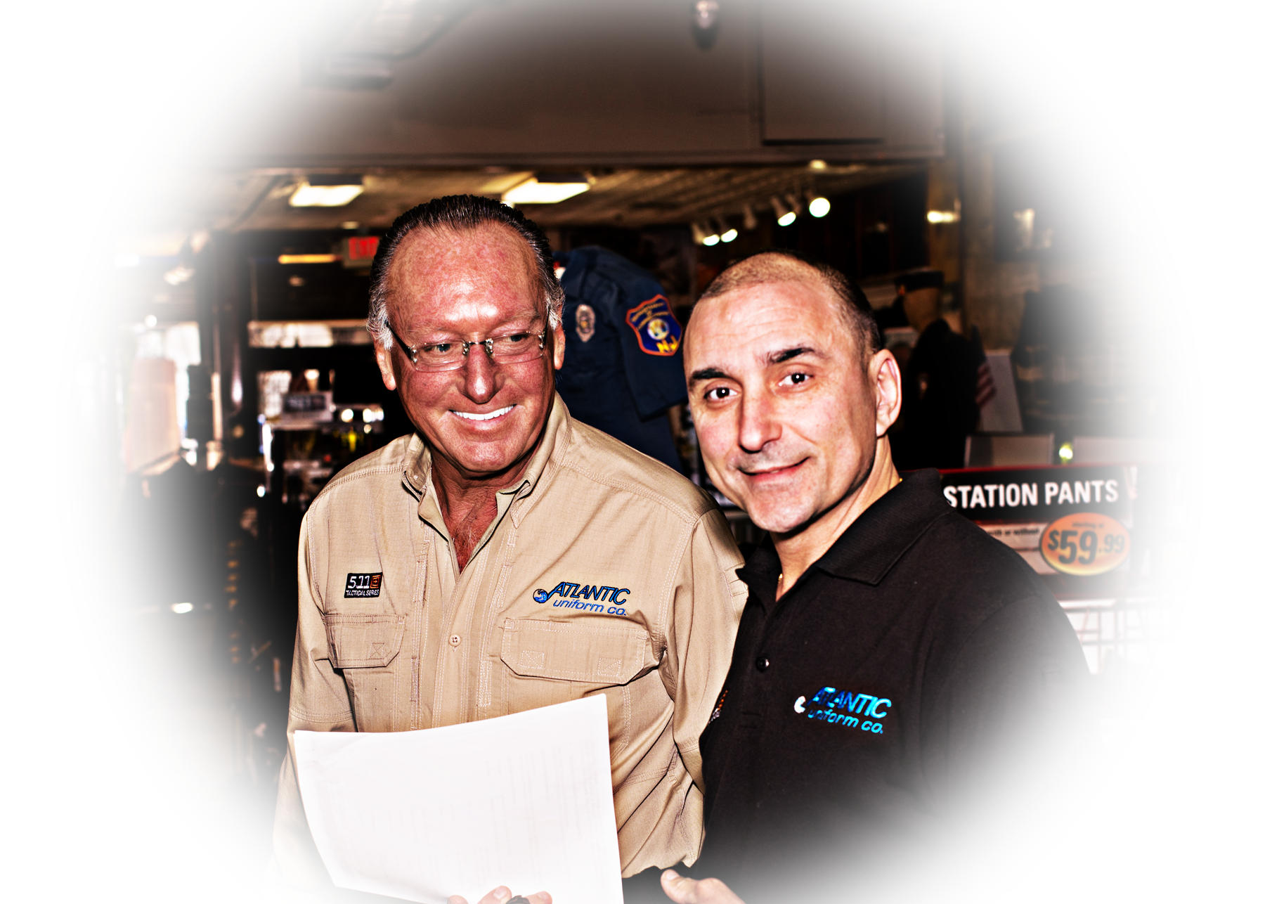 Two Product Specialists from Atlantic Uniform